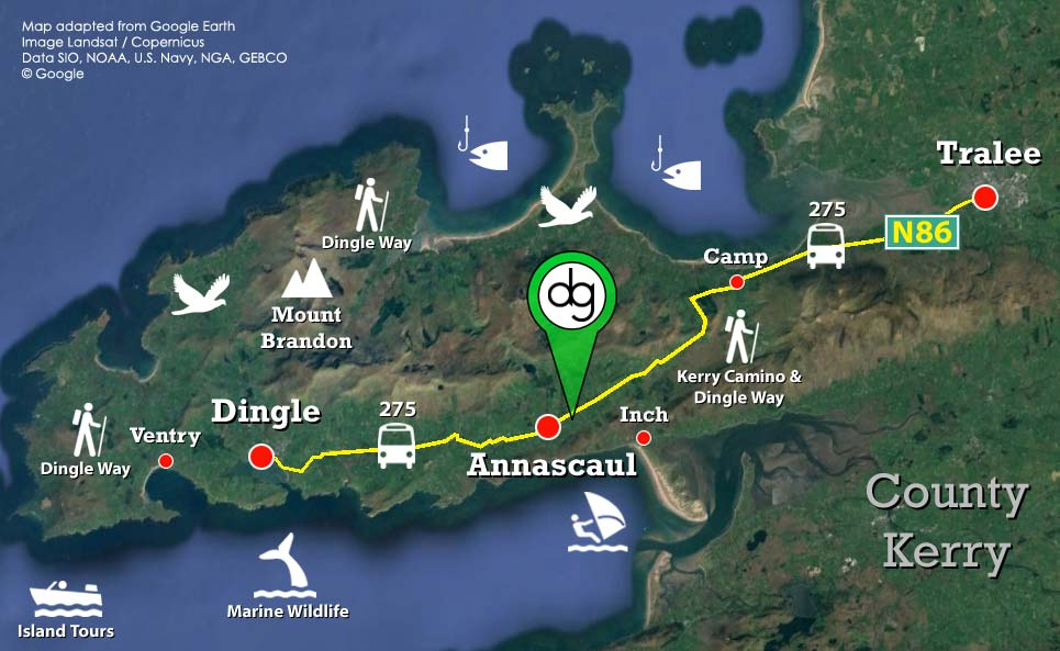 Map of the Dingle Peninsula