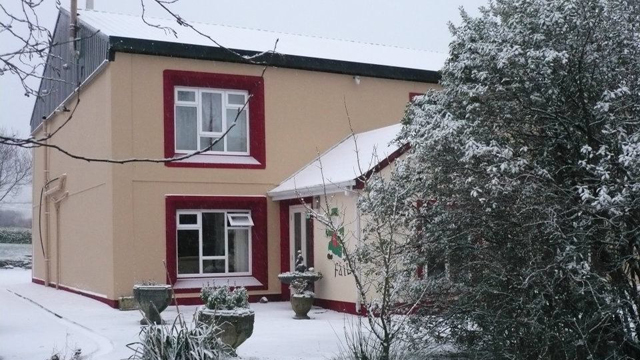 our hostel in winter